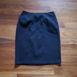 Tahari 100% Wool Pencil Skirt  Dark Gray Unlined 2